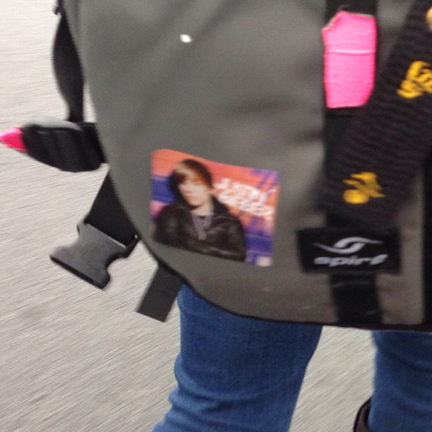 Ha ha… Nice backpack sticker. @silver_unicorns2