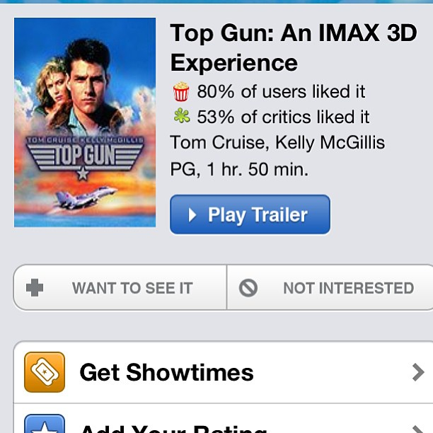 Top Gun on IMAX…? Yes, please.