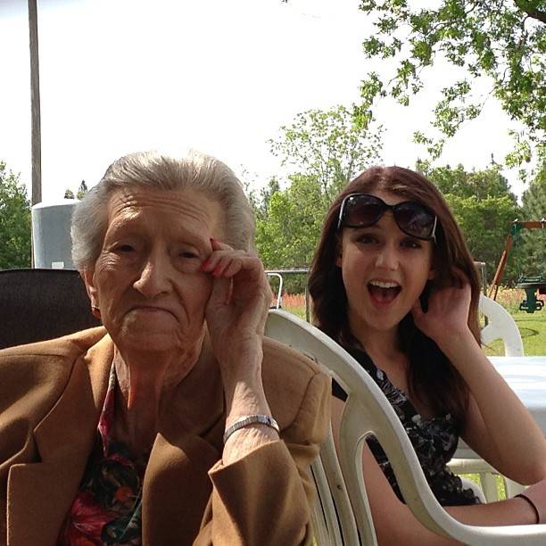 @becca_nations and her great-grandmother. :)