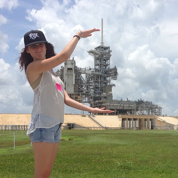 It's only this big… Launch pad 39A. This is where they sent men to the moon.