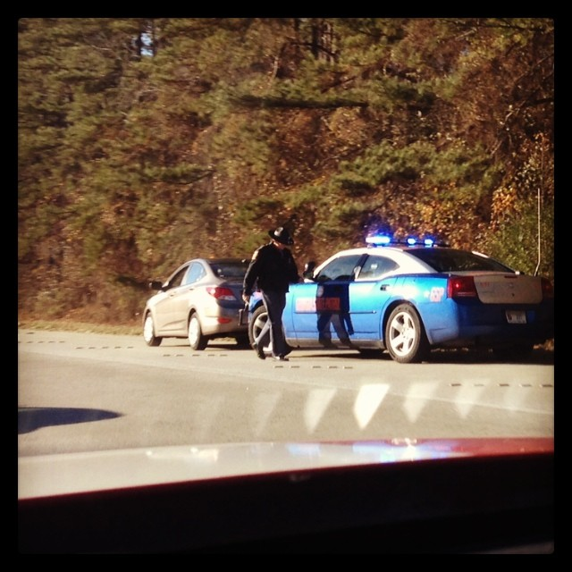 Rule #1 for Turkey Day Travels… Don't be the lead car in the pack… #duh