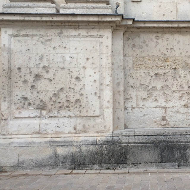 Bullet holes in the …