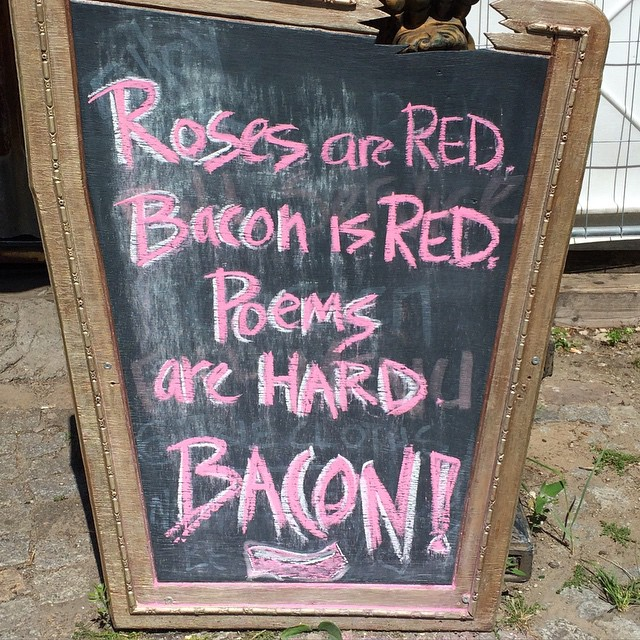 #bacon – #poetry – #rosesarered